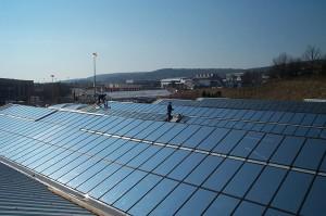 Dachbeschichtung für große Flächen